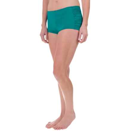 Tommy Bahama Pearl Side-Shirred Swim Shorts - UPF 50+ (For Women) in Azurite - Overstock