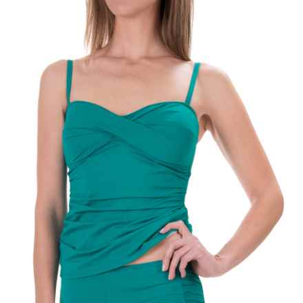 Tommy Bahama Pearl Twist Tankini Top (For Women) in Azurite - Overstock