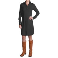Tommy Bahama Pickford Zip Placket Dress - Long Sleeve (For Women) in Black - Closeouts