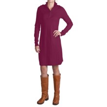 Tommy Bahama Pickford Zip Placket Dress - Long Sleeve (For Women) in Cassis - Closeouts