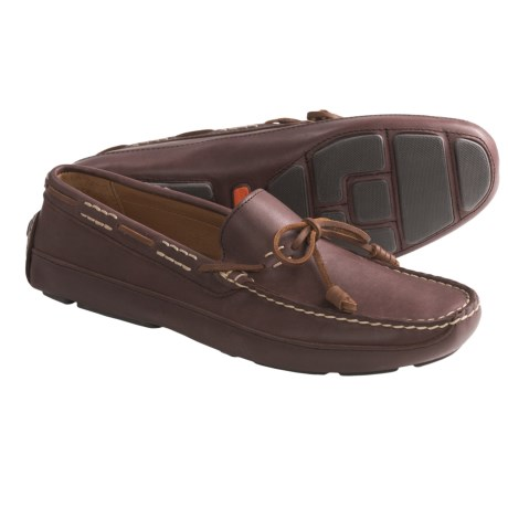 Tommy Bahama Pompai Driving Moccasins - Leather, Slip-Ons (For Men) in Dark Brown