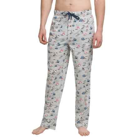 Tommy Bahama Printed Cotton-Modal Jersey Lounge Pants (For Men in Grey Beach Umbrella - Closeouts