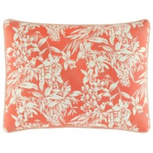 Tommy Bahama Quilted Pillow Sham - King in Orchid Retreat Coral - Closeouts