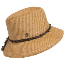 Tommy Bahama Raw Edge Cloche Hat - Paper Straw (For Women) in Toast - Closeouts