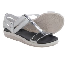 Tommy Bahama Relaxology® Illana Sandals - Leather (For Women) in Silver - Closeouts