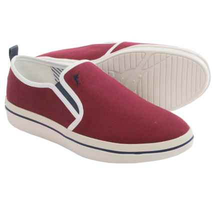 Tommy Bahama Relaxology® Ryver Canvas Shoes - Slip-Ons (For Men) in Burgundy - Closeouts