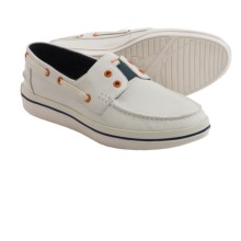Tommy Bahama Rester Boat Shoes - Leather (For Men) in White - Closeouts