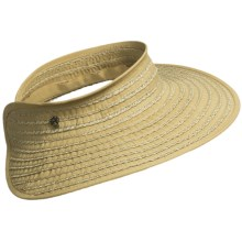 Tommy Bahama Ribbon and Paper Braid Visor (For Women) in Toast - Closeouts