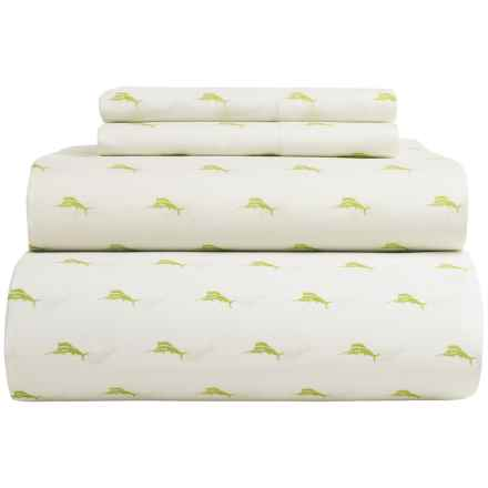 Tommy Bahama Sailfish Sheet Set - Twin, 200 TC Cotton in Kiwi - Closeouts