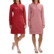 Tommy Bahama Seaport Stripe Reversible Dress - Long Sleeve (For Women) in Cerise Heather - Overstock