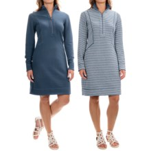 Tommy Bahama Seaport Stripe Reversible Dress - Long Sleeve (For Women) in Ocean Deep Heather - Overstock