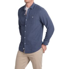 Tommy Bahama Seeing Double Shirt - Long Sleeve (For Men) in Navy Heather - Closeouts