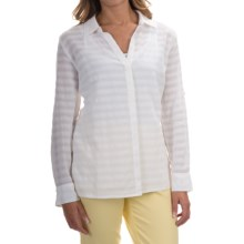 Tommy Bahama Shadow Striped Shirt - Semi Sheer, Long Sleeve (For Women) in White - Overstock
