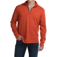 Tommy Bahama Signature Eversuede Shirt - Pima Cotton, Zip Neck, Long Sleeve (For Men) in Bonfire - Closeouts