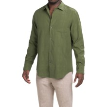 Tommy Bahama Skyscape Shirt - Silk-Cotton, Long Sleeve (For Men) in Cedar - Closeouts