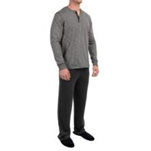 Tommy Bahama Slub Jersey Pajamas - Long Sleeve (For Men) in Black - Closeouts