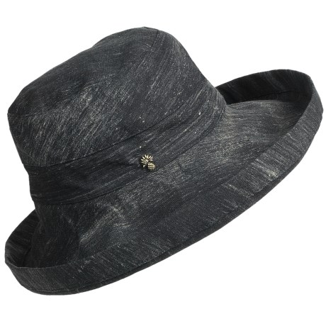Tommy Bahama Sun Washed Sun Hat - Crushable, Cotton Canvas (For Women) in Black