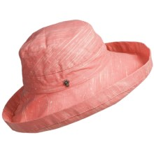 Tommy Bahama Sun Washed Sun Hat - Crushable, Cotton Canvas (For Women) in Coral - Closeouts