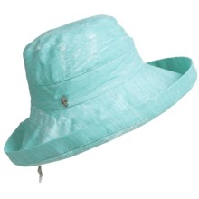 Tommy Bahama Sun Washed Sun Hat - Crushable, Cotton Canvas (For Women) in Sky - Closeouts