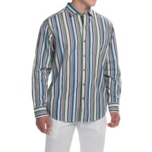 Tommy Bahama Sunset Surf Striped Shirt - Long Sleeve (For Men) in Bravo Blue - Closeouts