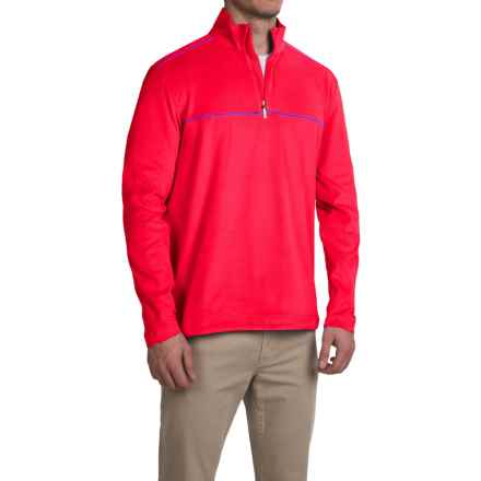 Tommy Bahama TB Softwear MVP Sweatshirt - Zip Neck (For Men) in Electric Berry - Closeouts