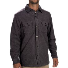 Tommy Bahama Twill Murray CPO Shirt Jacket - Fleece Lining, Long Sleeve (For Men) in Black - Closeouts
