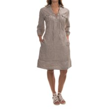 Tommy Bahama Two Palms Front-Tie Dress - Roll-Up Elbow Sleeve (For Women) in Briarwood - Overstock