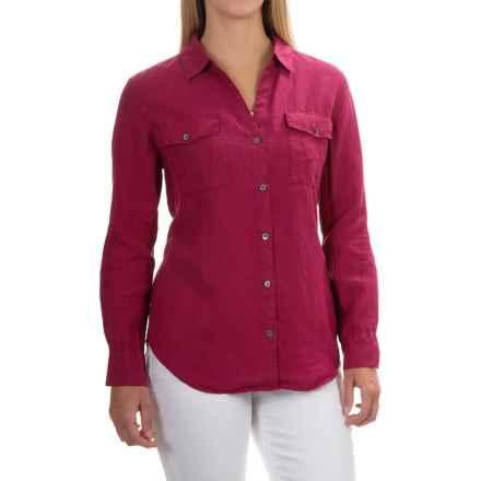 Tommy Bahama Two Palms Shirt - Linen, Long Sleeve (For Women) in China Berry - Overstock
