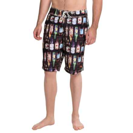 Tommy Bahama Waikiki 99 Bottles of Beer Boardshorts (For Men) in Black - Closeouts