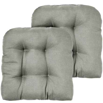 """Wild Dove Tufted Chair Cushions - 2-Pack, 20x20"""", Indoor/Outdoor in Wild Dove - Closeouts"""