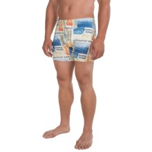 Tommy Bahama World Traveler Knit Boxer Briefs (For Men) in Cream/Paradise Times - Closeouts