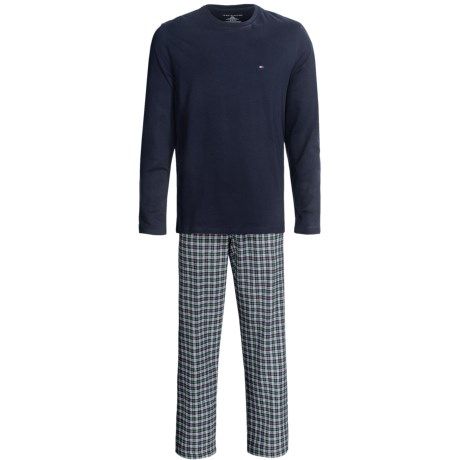 Tommy Hilfiger Cotton Pajamas Gift Set - Long Sleeve (For Men) in Cactus