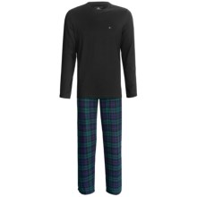 Tommy Hilfiger Cotton Pajamas Gift Set - Long Sleeve (For Men) in Cactus - Closeouts