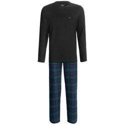 Tommy Hilfiger Cotton Pajamas Gift Set - Long Sleeve (For Men) in Fire