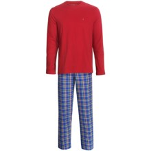 Tommy Hilfiger Cotton Pajamas Gift Set - Long Sleeve (For Men) in French Blue - Closeouts