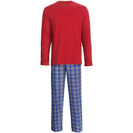 Tommy Hilfiger Cotton Pajamas Gift Set - Long Sleeve (For Men) in French Blue