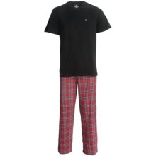 Tommy Hilfiger Cotton Pajamas - Short Sleeve (For Men) in Clay - Closeouts