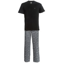 Tommy Hilfiger Cotton Pajamas - Short Sleeve (For Men) in Gun Metal - Closeouts