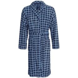Tommy Hilfiger Microfleece Robe - Long Sleeve (For Men) in Fire