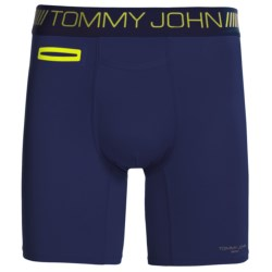 Tommy John Sport Boxer Briefs (For Men) in Black/Royal Blue