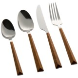 Tomodachi Outdoor Dali Wood and Stainless Steel Flatware Set - 16-Piece