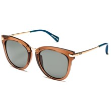 TOMS Adeline Sunglasses (For Women) in Rose Crystal Midnight Blue/Green Grey - Closeouts