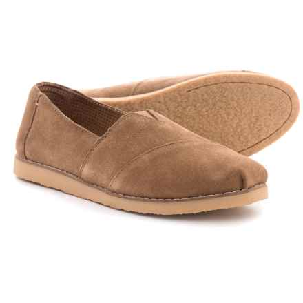 TOMS Alpargata Crepe Shoes - Suede, Slip-Ons (For Women) in Toffee - Closeouts