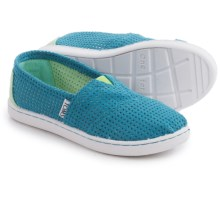 TOMS Alpargata Shoes - Slip-Ons (For Little and Big Kids) in Blue - Closeouts