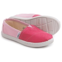 TOMS Alpargata Shoes - Slip-Ons (For Little and Big Kids) in Pink - Closeouts
