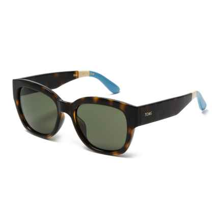 TOMS Audrina Sunglasses in Tortoise Light Blue/ Green Grey - Closeouts