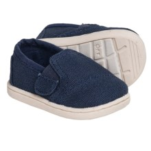 TOMS Avalon Burlap Shoes - Slip-Ons (For Infants) in Navy - Closeouts