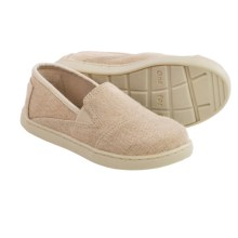TOMS Avalon Burlap Sneakers - Slip-Ons (For Toddlers) in Natural - Closeouts