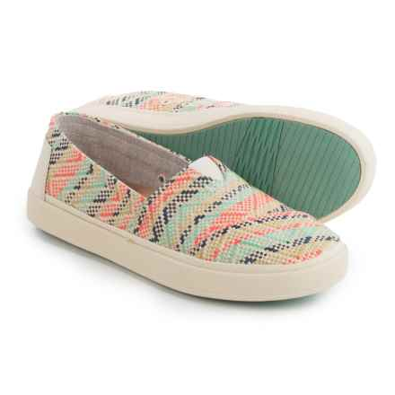 TOMS Avalon Natural Multi-Woven Shoes - Slip-Ons (For Women) in Natural - Closeouts