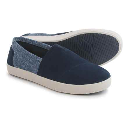 TOMS Avalon Suede Shoes - Slip-Ons (For Men) in Navy - Closeouts